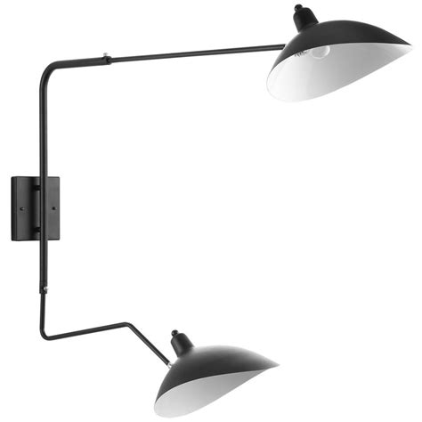 mantis two arm wall sconce serge mouille style black or
