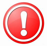 Image result for white exclamation point on red circle