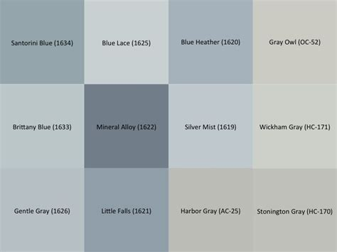 benjamin moore gray and blue paint samples for the
