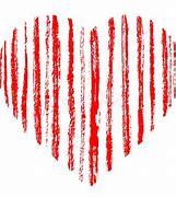 Résultat d'images pour coeur rouge rayé