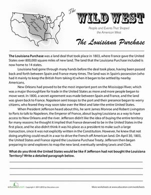 history of the louisiana purchase th grade social