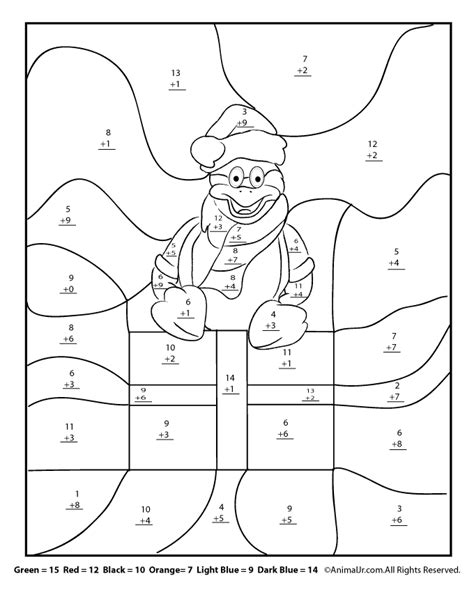 christmas winter math worksheets for nd rd and th