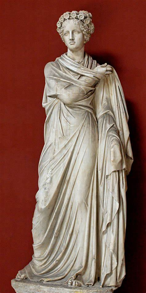 A statue of Polyhymnia