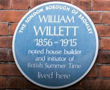 Image result for blue plaque william willett
