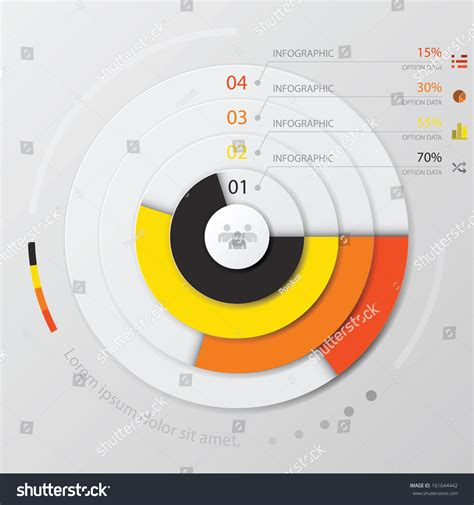 modern curve circle infographic design template stock