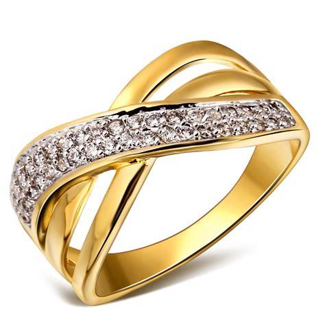 women woven design deluxe cubic zirconia wedding ring k