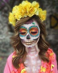 Image result for catrina makeup