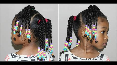 kids braided hairstyle with beads cute hairstyles for