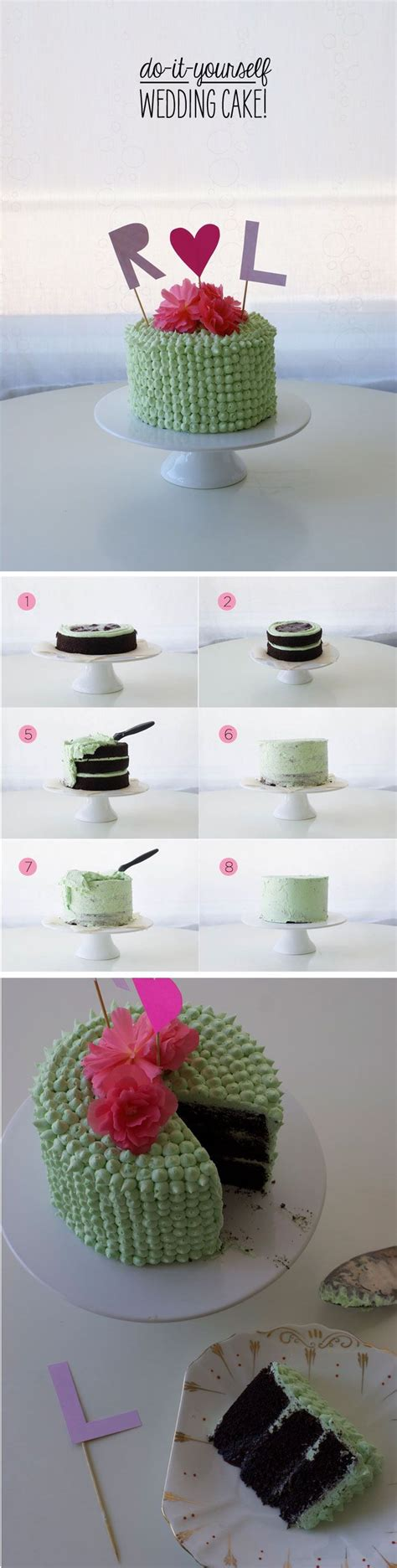 do it yourself wedding cake make your best friends or