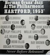 Image result for Jazz at the philharmonic Hartford 1953
