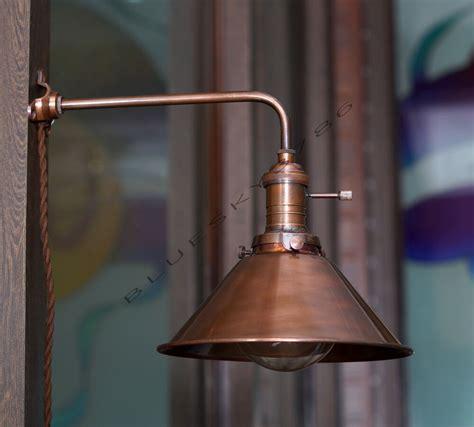industrial vintage copper shade wall lamp retro edison