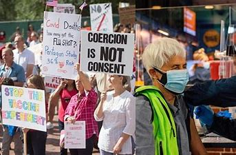 Image result for images anti vaxxer protests