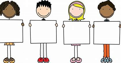 Image result for clip art boy holding a poster
