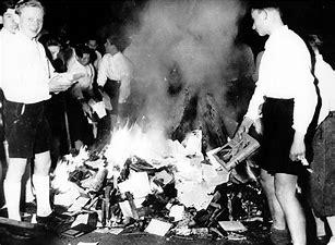 Image result for images book burning Nazi era