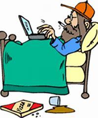 Image result for lie in bed cartoon