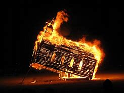 Image result for burning churches