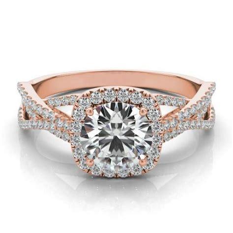 forever one moissanite diamond braided ring k rose
