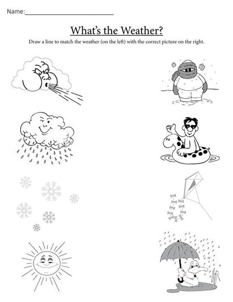 WHAT S THE WEATHER FREE PRINTABLE MATCHING WORKSHEET
