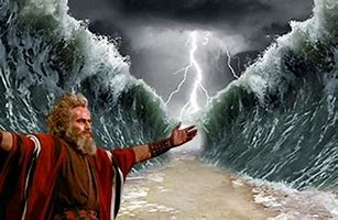 Image result for images moses parting the red sea