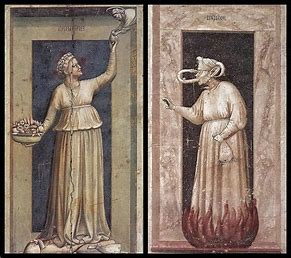 Image result for seven deadly sins jealousy medieval paintings