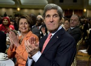 Image result for images of nancy pelosi with john kerry