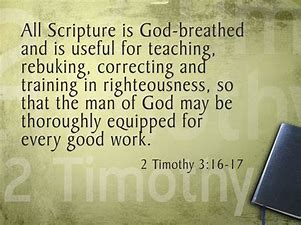 Image result for The Inspired Word 2 Tim. 3:16-17