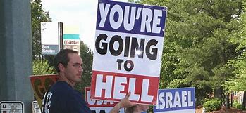 Image result for megaphone preachers who give christians a bad name