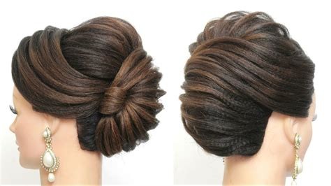 new french roll latest bridal hairstyle for long hair