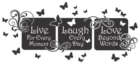 live laugh love floral mural quote vinyl wall art decal