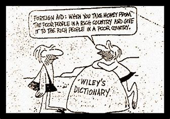 Image result for Foreign Aid Cartoon