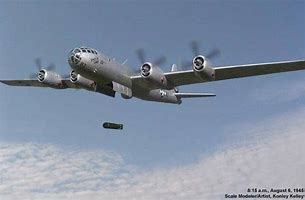 Image result for Enola Gay, dropped the first atomic bomb