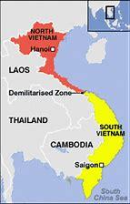 Résultat d'images pour carte du vietnam avant la division nord / sud
