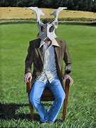 Image result for person wearing cow pelvis