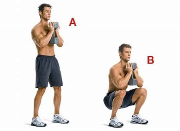Image result for front squat with dumbbell