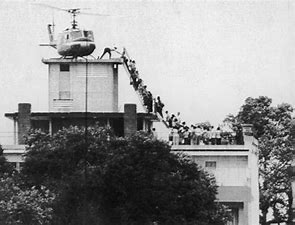 Image result for images helicopter evacuation roof embassy saigon