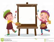 Image result for artist kid cartoon