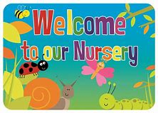 Image result for Welcome to Our Church Nursery Banner