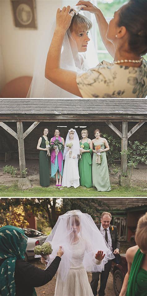 a diy wedding with homemade flowers flamingo art a