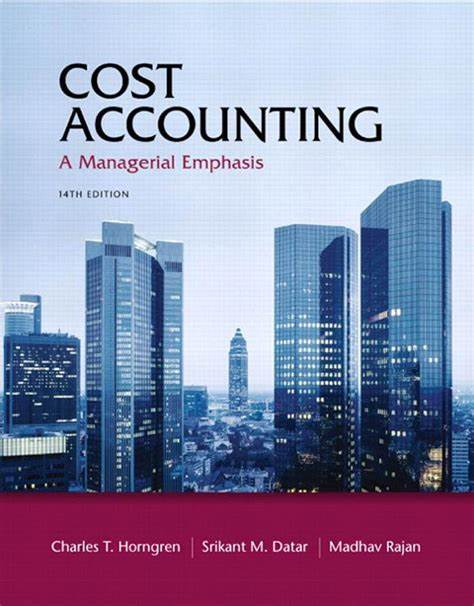Cost and managerial accounting textbook