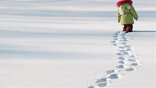 Image result for writing in the snow with feet