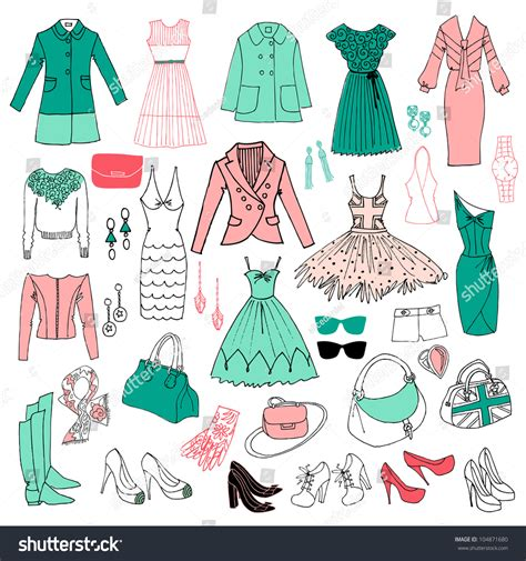 fashion in mint and pink colors stock vector