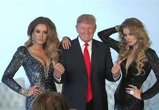 Image result for images trump with beauty queens