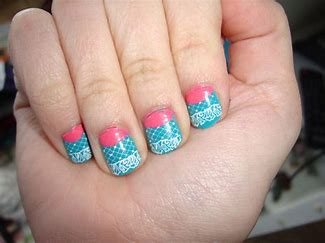 Image result for pink and blue nails