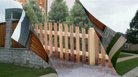 desain pagar kayu sederhana dan unik rumah minimalis part