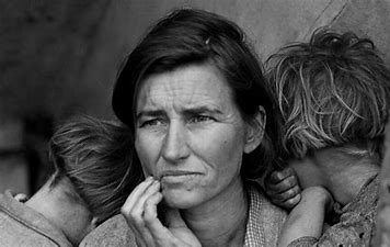 Image result for images classic image woman dust bowl