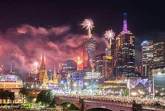 Image result for fireworks melbourne cbd