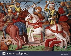 Image result for images charlemagne defeating the saracens