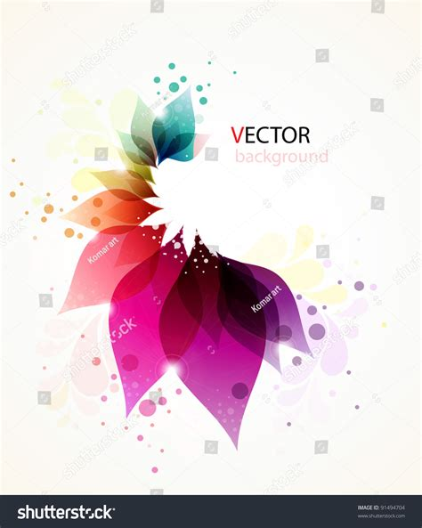 colorful floral abstract background stock vector