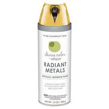 devine color spray paint by valspar metallic gold