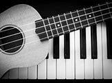 Image result for keyboard and guitar ukulele
